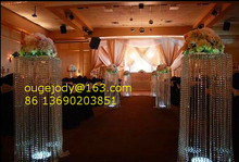 crystal wedding pillars columns for aisle decoration