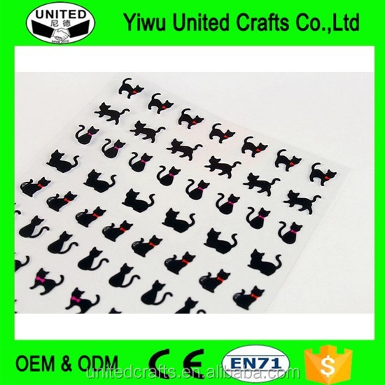 1 Sheet cartoon lovely black cat sticker Playground sitcker pack DIY Diary Decor