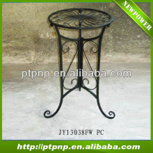 Decorative Outdoor Wrought Iron Antique Black Metal Flower Planter Stand