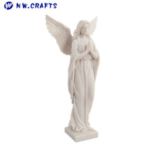 Factory direct resin famous white praying female religious angel statue