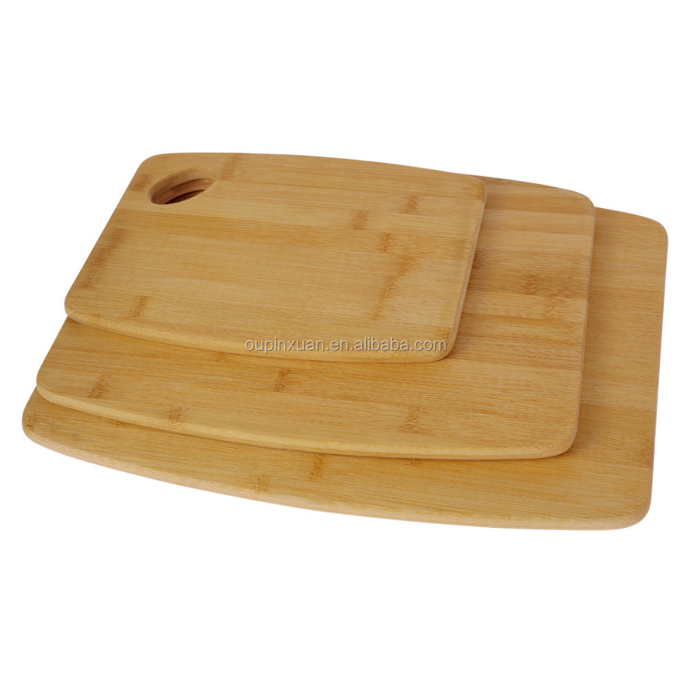 Totally Bamboo 3 Piece Bamboo Cutting Board Set Perfect For Meat & Veggie Prep Serve Bread Crackers Cheese Cocktail Bar Board