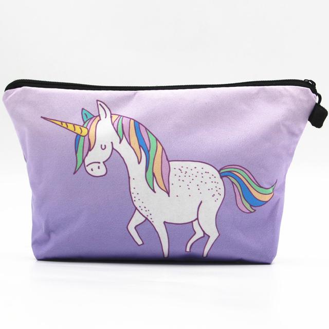 Women's Fashion Accessories Supplier Amazon Supplier Cheap Ultra Violet Unicorn Cosmetic Bag
