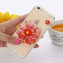 [Somostel] Handmade Real Daisy Pressed Flower Phone Case For Iphone4/4s/5/5s/5c/6/6plus