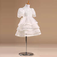 2015 High quality OEM childern puffy patterns party baby girl frill dress