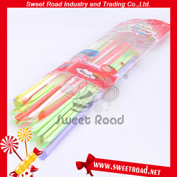 Multi-Colored Tasty Fruit Straw Powder Candy