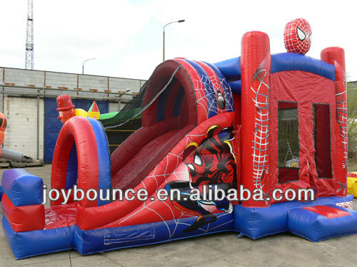 inflatable batman spiderman bouncy castle,outdoor castle playground