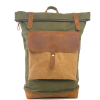 New Arrival Vintage Waxed Canvas leather backpack hiking backpack
