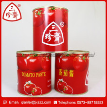 Chinese fresh red tomato puree tomato ketchup canned tomato sauce 28-30% brix