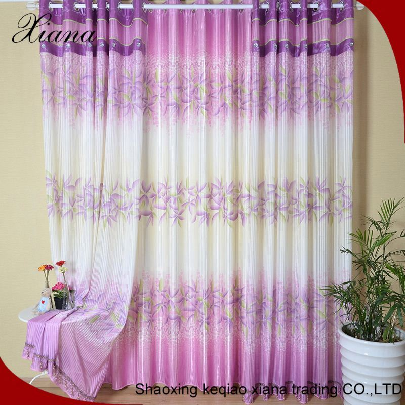 good quality High precision electronic jacquard curtain Shading curtain purple curtain