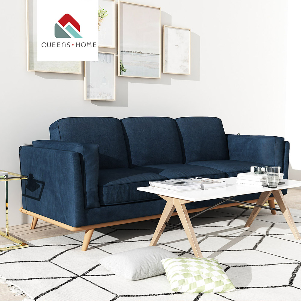 Queenshome american <strong>antique</strong> <strong>style</strong> comfortable living room barcelona couch <strong>furniture</strong> <strong>designs</strong> 3 seater recliner fabric sofa set