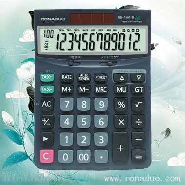 bmi calculator machine 120T-d TAX calculator portable desktop calculator with solar cell