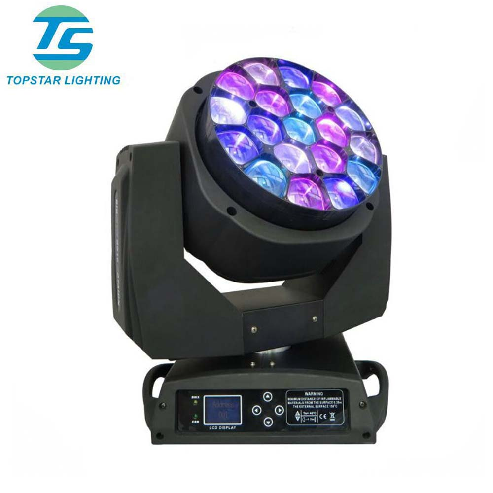 (TSC033A)Professtional stage lighting 19*12w bee-eye zoom led beam moving head light
