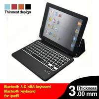 Bluetooth Keyboard for iPad Air 5 Leather Case with Thin Bluetooth Smart Keyboard Blue