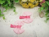 Design pink bow tie ,baby hair bows
