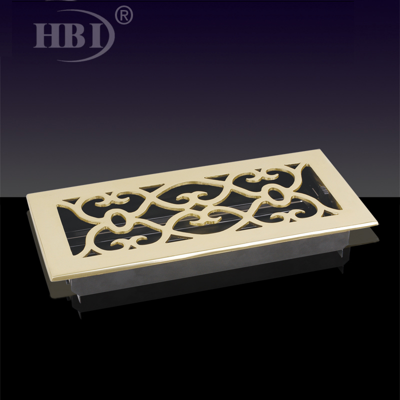 VF-AB/VE-BB/VF-DB Victorian Floor Register Steel Decorative Floor Grilles Register Floor Air Vent Grilles