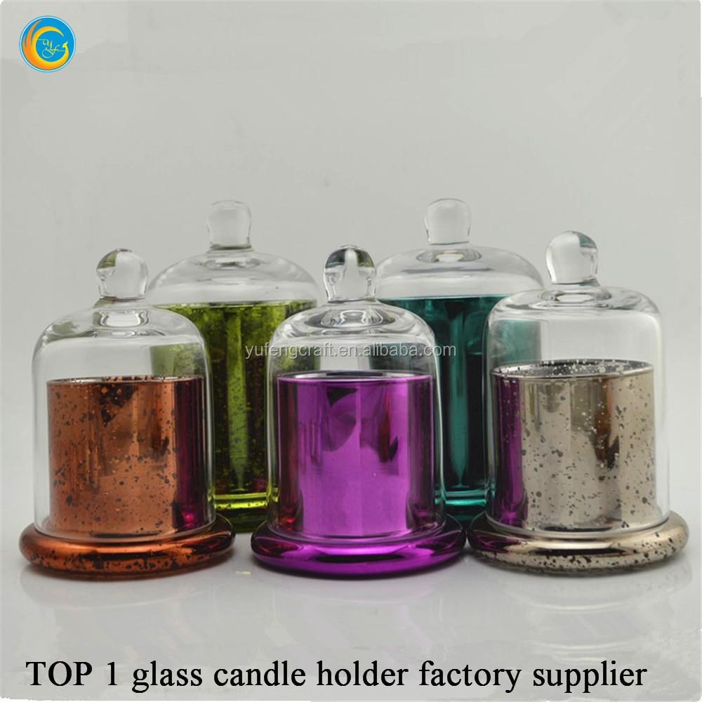 floating candle holders with glass domes