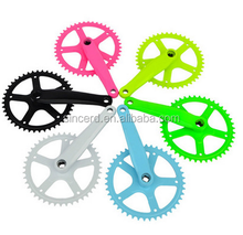 SCD-04-14 44T 170mm Length Fixed Gear Bike Chainwheel Aluminium Alloy Crankset Bicycle Chainwheel Crank
