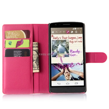 Litchi Grain Flip Cover With Stand Card Holder Phone Bag Luxury Shell Wallet Holster PU Leather Case Pouch For LG G4 Stylus