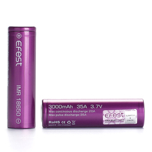 Efest 18650 battery 3000mah 35A li ion battery accept battery wrap 18650 custom printed