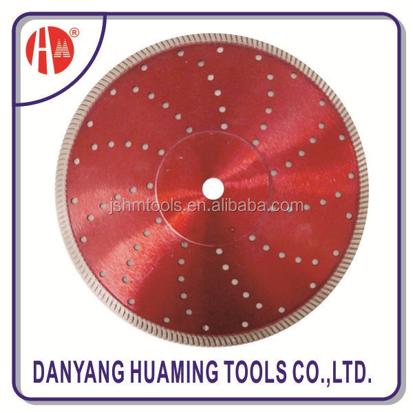 sintered DIY continous turbo wave diamond saw blade for angle grinder