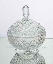 beautiful clear glass candy jars