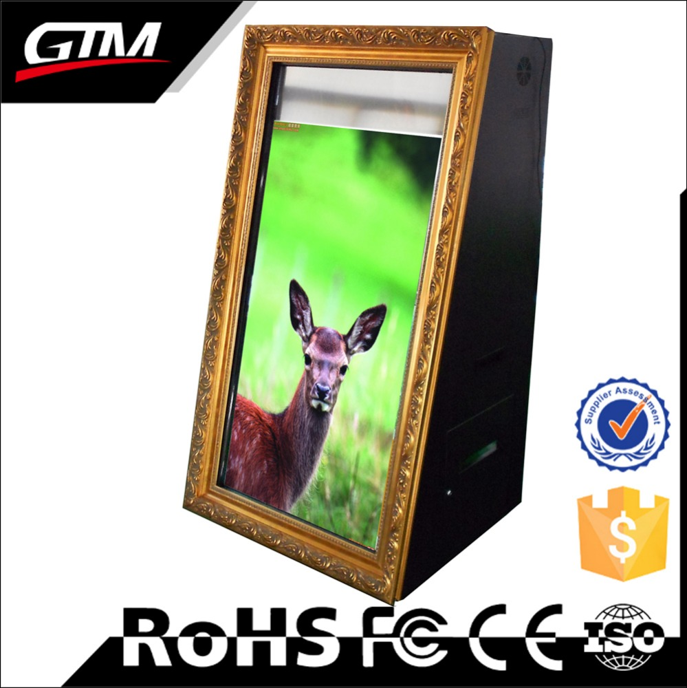 47 inch high brightness lcd touch screen interactive magic mirror customized lcd photo booth mirror selfie mirror booth