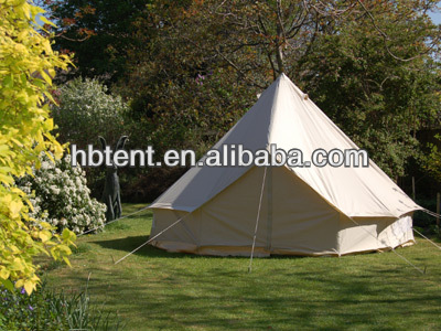 3m,4m,5m Cotton Canvas Bell Tent for outdoor camping