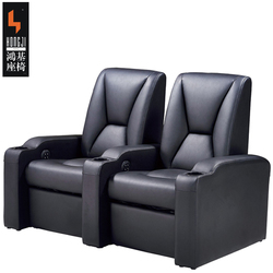 Promotion Top great leather home VIP 3d cinema hall chair with footrest for sale
