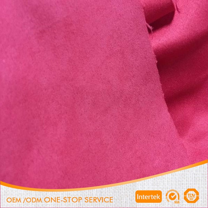 100% polyester microfiber brushed suede fabric for garment