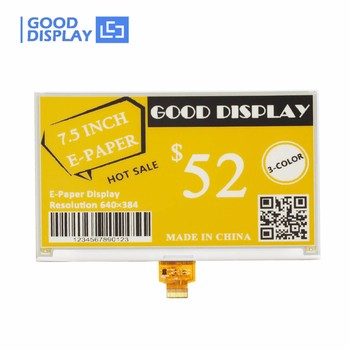 E goodisplay color B/W/Y 7 inch e-ink epaper display panel