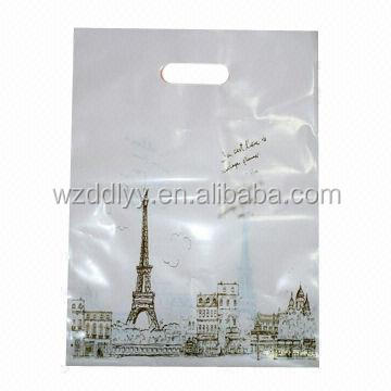 printed garment plastic shopping bag/fancy t-shirt bag/ plastic bag