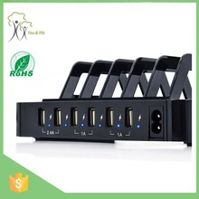 Hot sale mobile phone USB charging station with intelligent auto detect technology