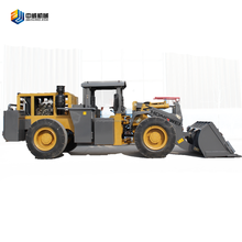 unload mini loader in tunnel wheel laoder heavy construction equipment
