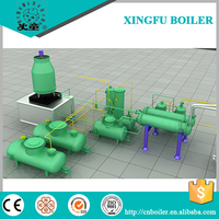 Pyrolysis tyre and plastic oil distillation to diesel equipment