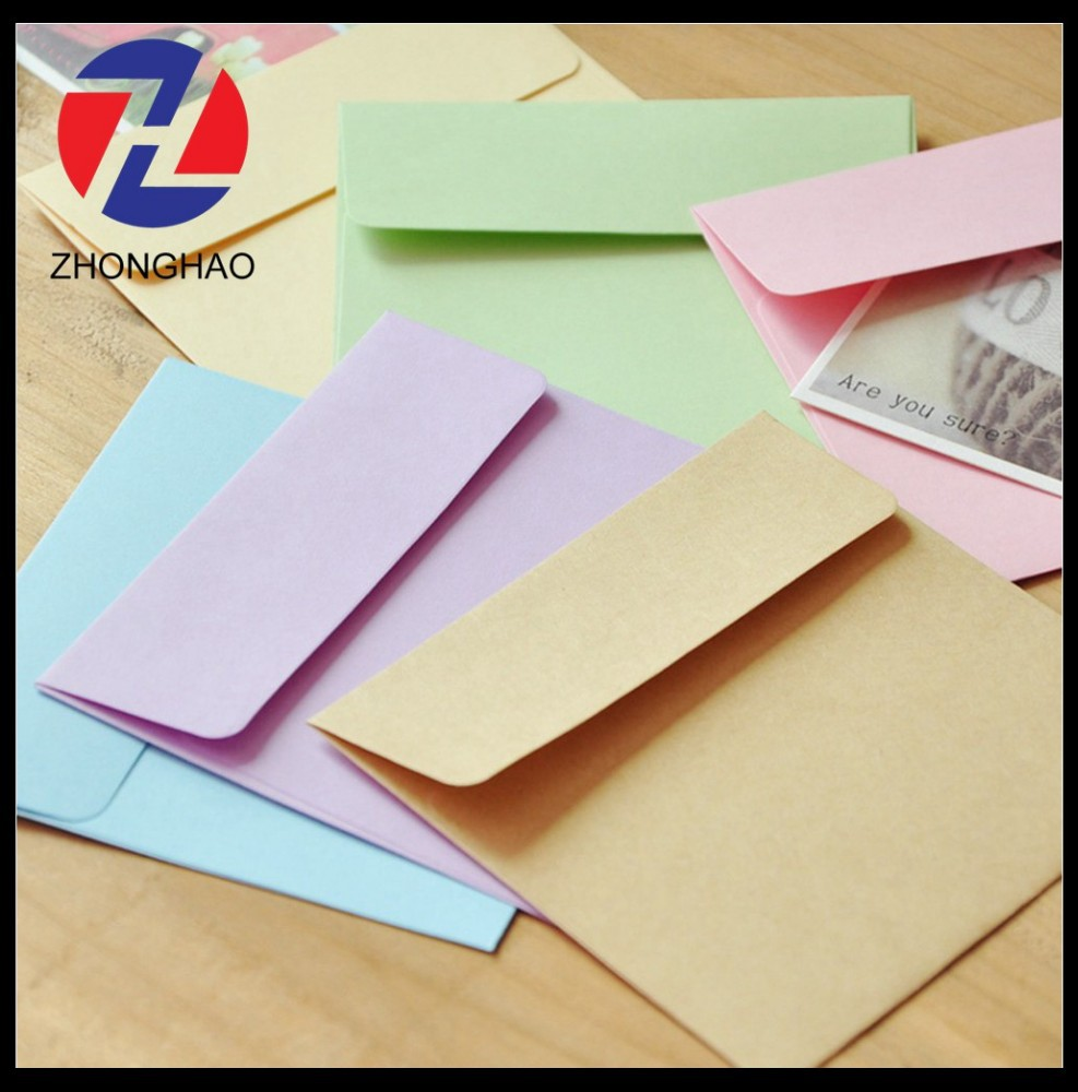 2015 new arrived offset paper blank square craft recycled plain paper envelope