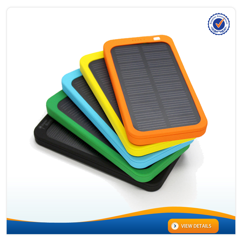 AWC707 ABS Colorful 5000mah Battery Mobile 0.7W Solar Mobile Charger Portable Charger Power Bank