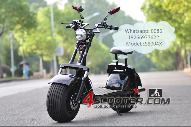 Powerful High Speed Lithium Battery Citycoco 1000W wheels electric scooter