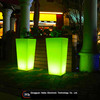artificial flower led light flower pot haiba led furniture Plastic colour changing solar led magic wedding flower pot