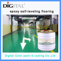 Waterbrone environmental friendly epoxy resin floor coating with high gloss