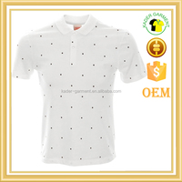 Custom All Over two-tone Polka Dot Print Polo Shirt Design