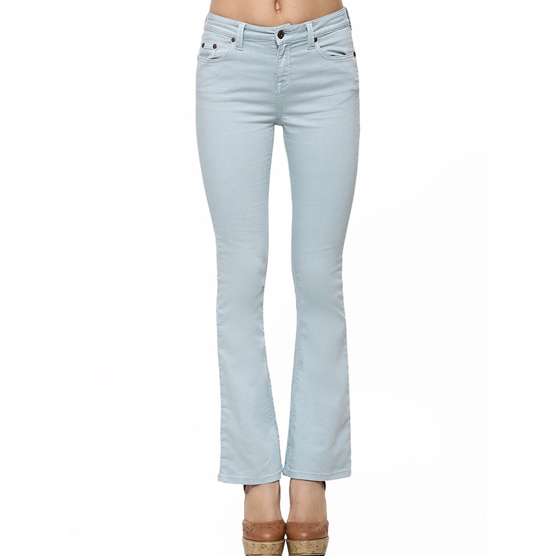 OEM ladies jeans top design china factory italian new fashion jeans pants