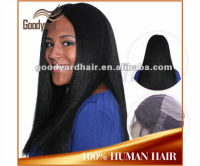 Wholesale Virgin remy human hair yaki silk top full lace wig for black women
