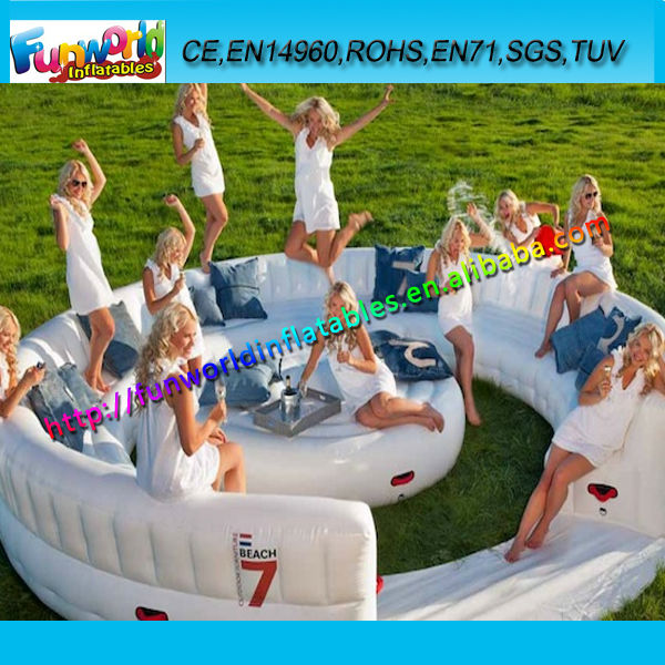 Inflatable Air Lounge Sofa, Inflatable Beach Furniture for 15 People