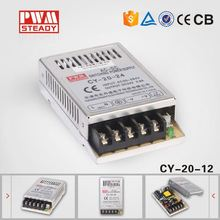 CY-20-12 factory 12v 1.5amp constant voltage 1.5a dc output LED power supply