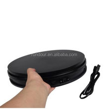 35cm White/black 50KG Loading 360 Degree Rotating Display Stand Turntable to make video
