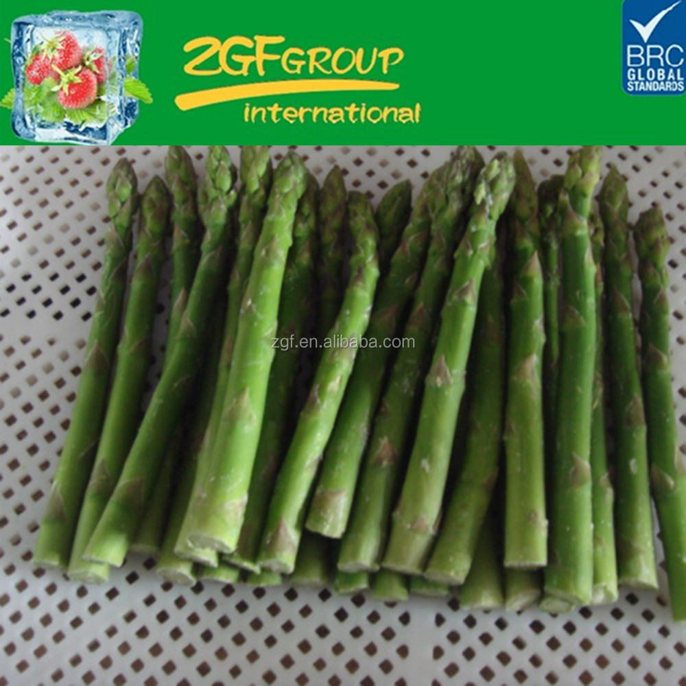 Hot Sale iqf vegetables and frozen green asparagus cut for retails