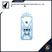 Lovely mobile phone bumper cover silicon 3D Stitch phone case