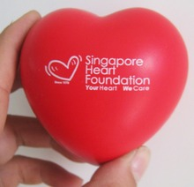 Custom Heart Shaped PU Foam Stress Ball with Logo Printing