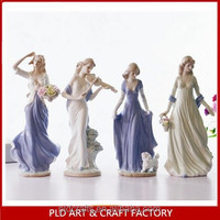 christmas decorative glitter ceramic angel figurines