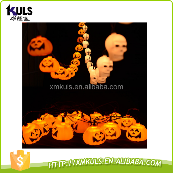 Wholesale decorated Halloween pumpkins light decoration plastic lamp